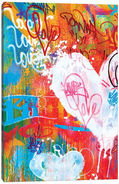 One Love V Canvas Art Print
