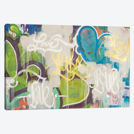 One Love VI Canvas Print #KBM48} by KBM Canvas Art