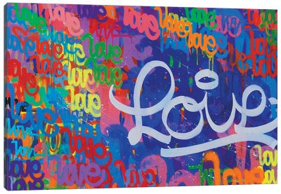 One Love VII Canvas Art Print