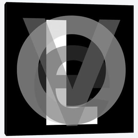 Google Love In Black And White Canvas Print #KBM7} by KBM Canvas Artwork