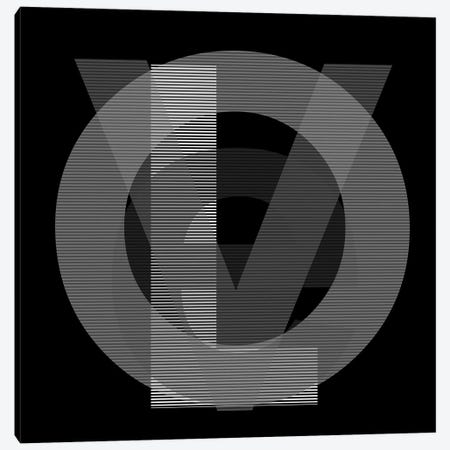 Google Love Lines In Black And White Canvas Print #KBM8} by KBM Art Print