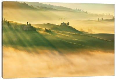 Foggy Valley... Canvas Art Print