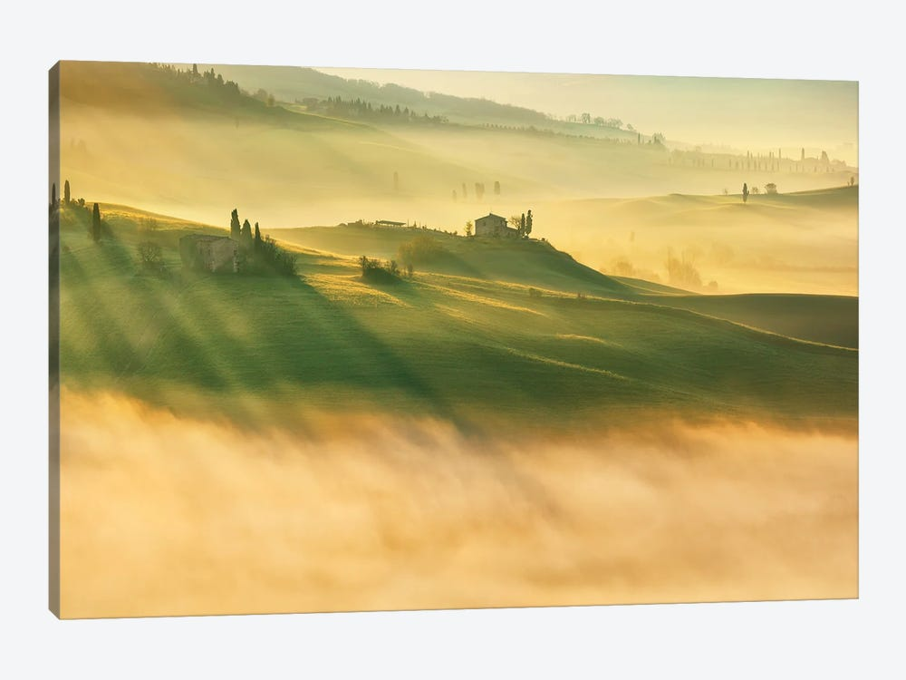 Foggy Valley... by Krzysztof Browko 1-piece Canvas Art Print