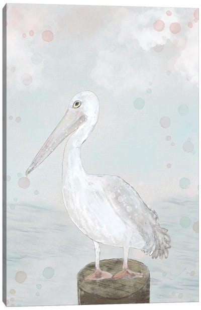 Lonely Seagull Canvas Art Print