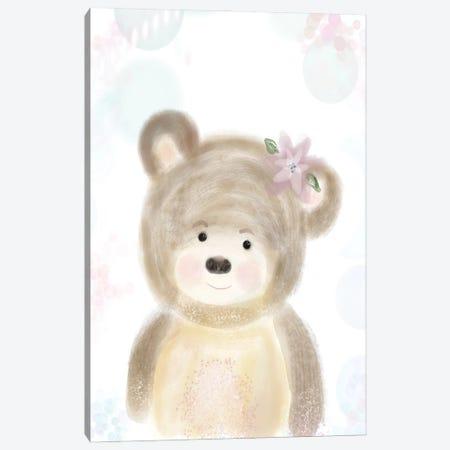 Adorable Bear Canvas Print #KBS1} by Karen Barski Canvas Wall Art