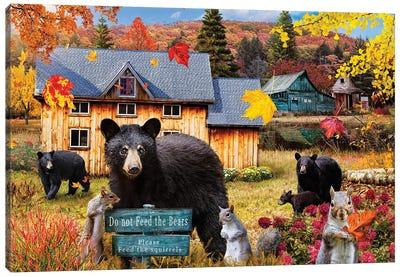 Do Not Feed The Bears Canvas Art Print