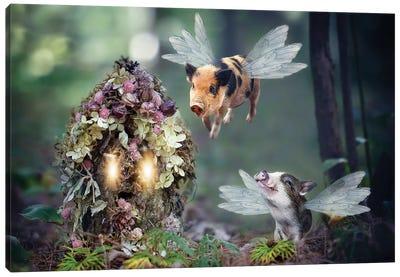 Fairy Piglets Canvas Art Print