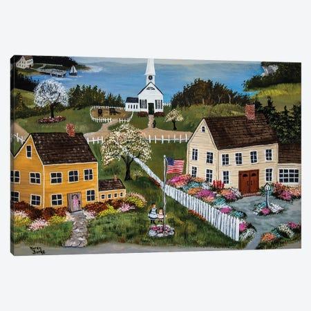 Springtime In New England Canvas Print #KBU109} by Karen Burke Canvas Art