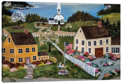 Springtime In New England Canvas Art Print