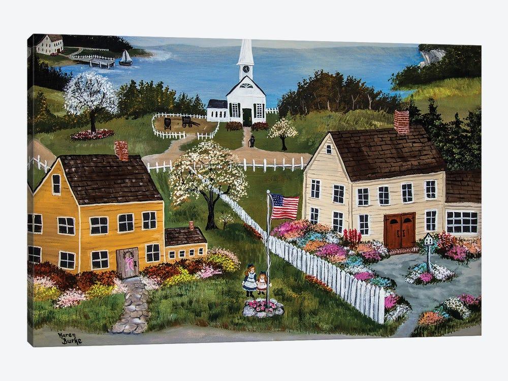 Springtime In New England by Karen Burke 1-piece Canvas Wall Art