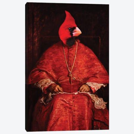 Cardinal Cardinal Canvas Print #KBU14} by Karen Burke Canvas Art
