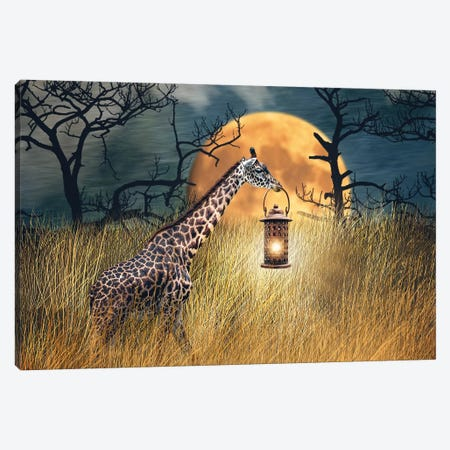 Moonlit Stroll Canvas Print #KBU50} by Karen Burke Art Print