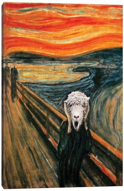 The Scream Lamb Canvas Art Print