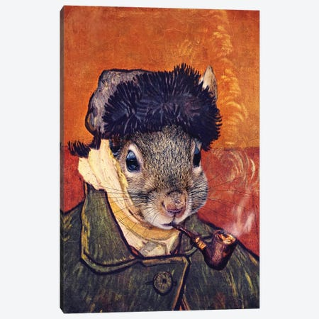 Vincent Selfie Canvas Print #KBU77} by Karen Burke Canvas Wall Art