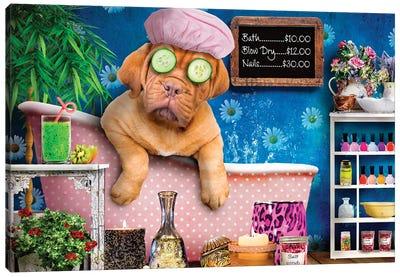 Doggie Day Spa Canvas Art Print