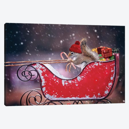 Santa'S Helper Canvas Print #KBU91} by Karen Burke Canvas Art Print
