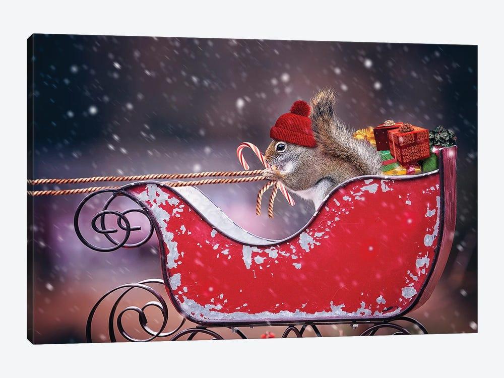 Santa'S Helper by Karen Burke 1-piece Art Print
