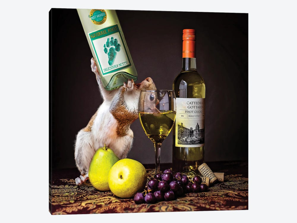 Squirrelfoot Wine by Karen Burke 1-piece Canvas Artwork