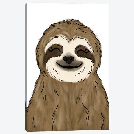 Sloth Canvas Print #KBY102} by Katie Bryant Canvas Art