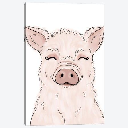 Pig Canvas Print #KBY113} by Katie Bryant Art Print