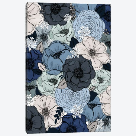 Frosty Florals Canvas Print #KBY11} by Katie Bryant Art Print