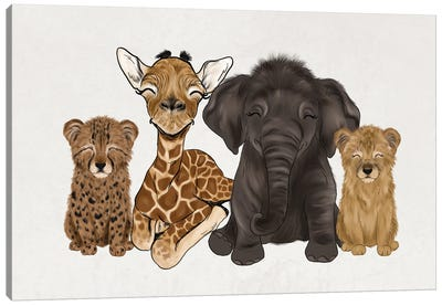 Safari Babies Canvas Art Print