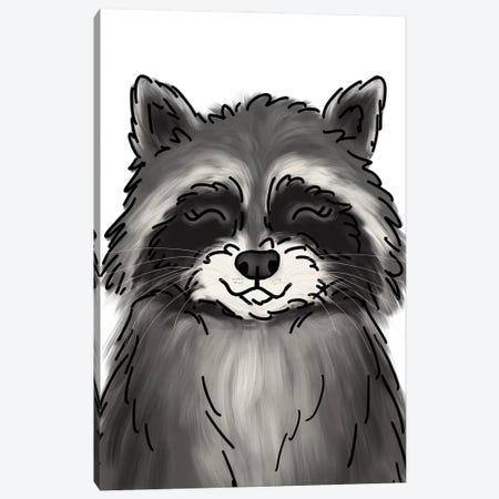 Raccoon Canvas Print #KBY122} by Katie Bryant Canvas Art