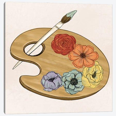 Floral Art Palette Canvas Print #KBY128} by Katie Bryant Canvas Artwork