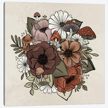 Forest Floral Cluster Canvas Print #KBY132} by Katie Bryant Art Print