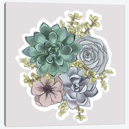 Succulent Florals Canvas Print #KBY136} by Katie Bryant Canvas Art
