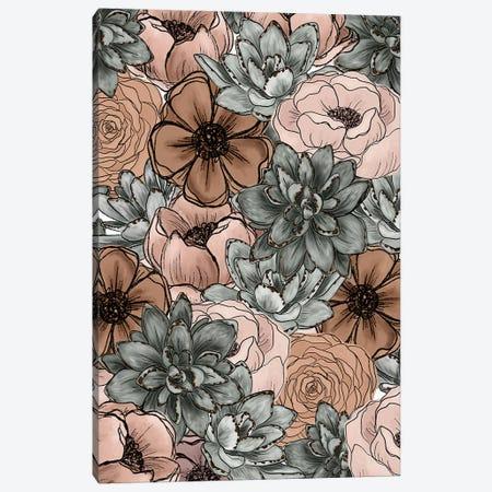 Soft Succulent Florals Canvas Print #KBY137} by Katie Bryant Canvas Art