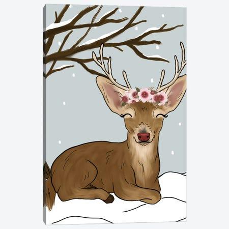 Christmas Reindeer Canvas Print #KBY13} by Katie Bryant Canvas Print