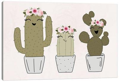 Cactus Friends Canvas Art Print