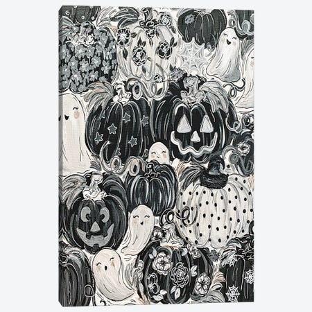 Ghostly Pattern Pumpkins Canvas Print #KBY160} by Katie Bryant Canvas Art