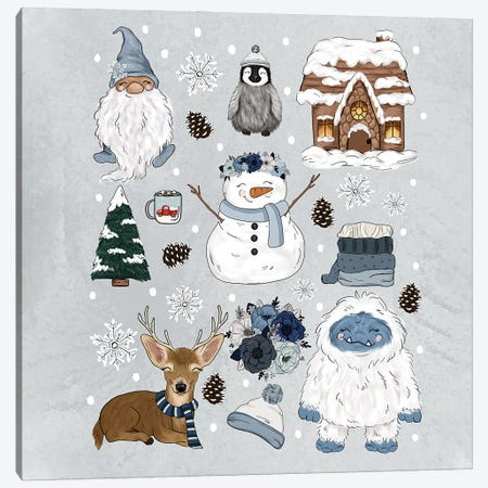 Frosty Feels Canvas Print #KBY167} by Katie Bryant Art Print
