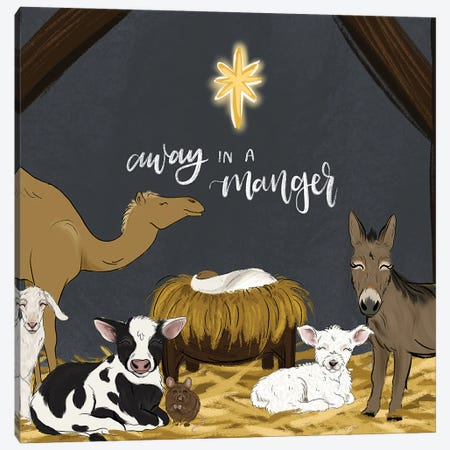 Manger Friends Canvas Print #KBY172} by Katie Bryant Canvas Print