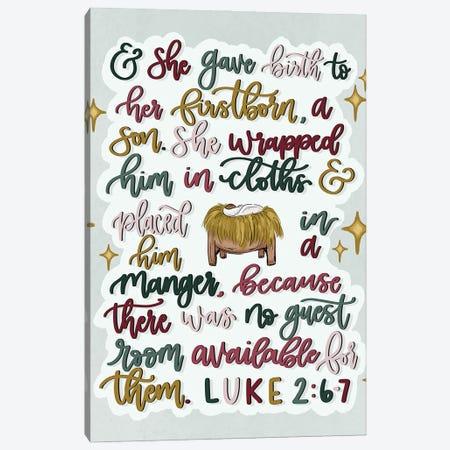 Luke 2:6-7 Canvas Print #KBY174} by Katie Bryant Canvas Artwork