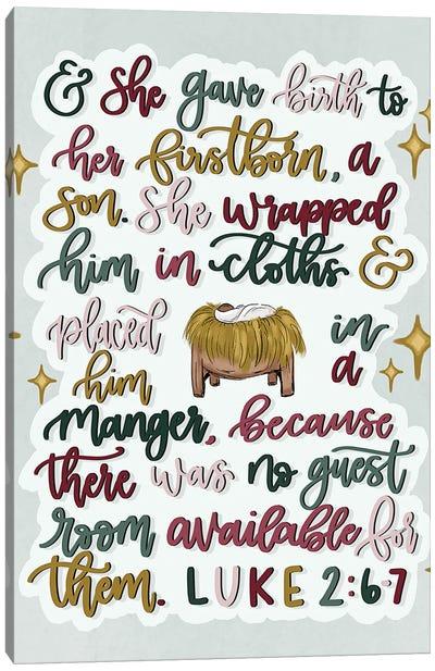 Luke 2:6-7 Canvas Art Print