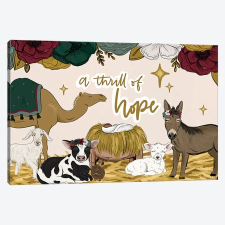 A Thrill Of Hope Manger Friends Canvas Print #KBY175} by Katie Bryant Canvas Artwork