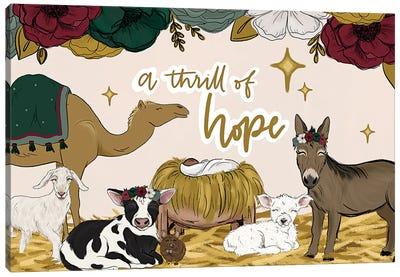 A Thrill Of Hope Manger Friends Canvas Art Print