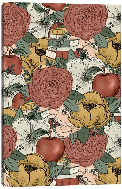 Teacher Florals Canvas Art Print