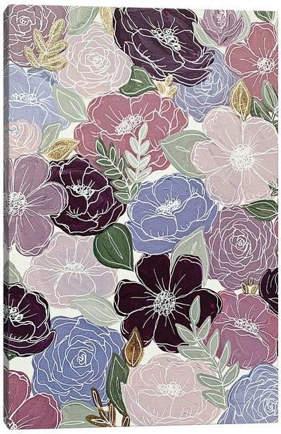 Purple Florals Canvas Art Print
