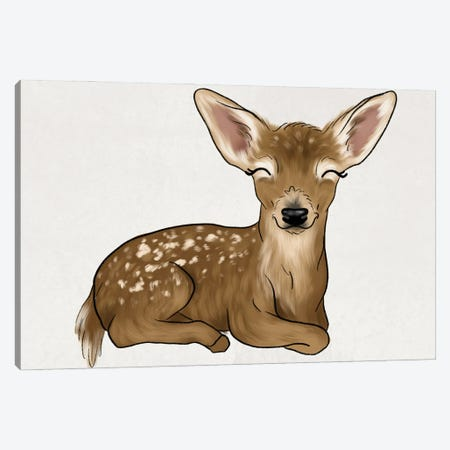 Baby Deer Canvas Print #KBY20} by Katie Bryant Canvas Artwork