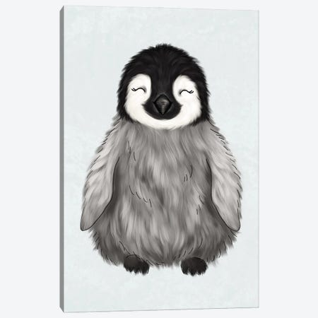 Baby Penguin Canvas Print #KBY22} by Katie Bryant Canvas Artwork