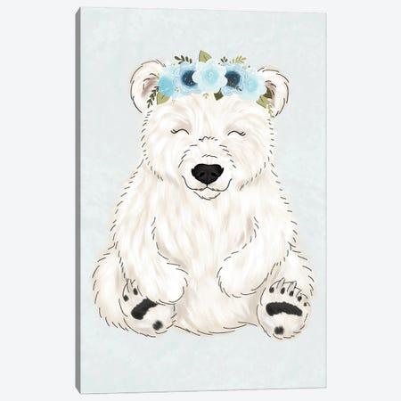 Floral Crown Polar Bear Canvas Print #KBY24} by Katie Bryant Canvas Print