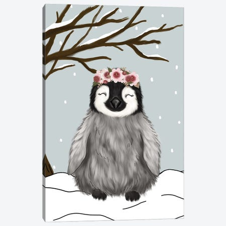 Winter Penguin Canvas Print #KBY25} by Katie Bryant Art Print