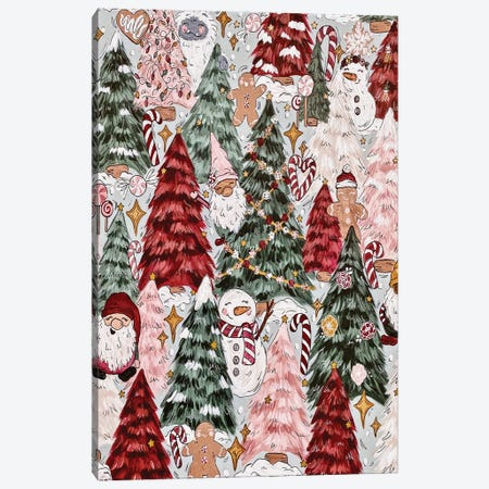 Festive Forest Canvas Print #KBY27} by Katie Bryant Art Print