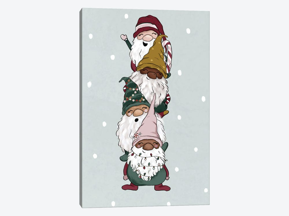 Christmas Gnomes by Katie Bryant 1-piece Canvas Art Print