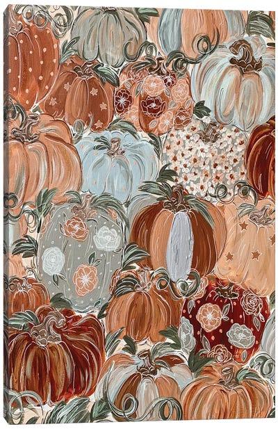 Pattern Pumpkin Florals Canvas Art Print