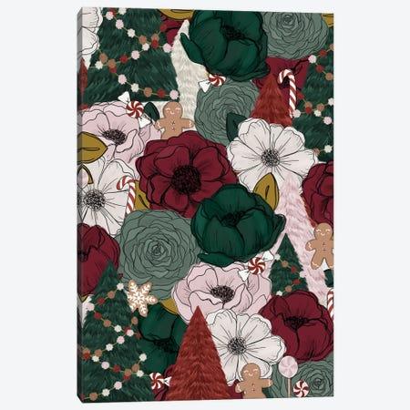 Festive Florals Canvas Print #KBY30} by Katie Bryant Canvas Art Print